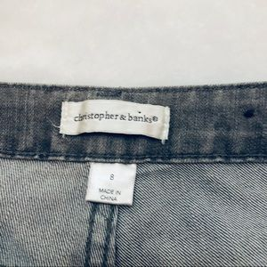 Christopher & Banks Jeans - Christopher & Banks Gray Sequin Boot Cut Jeans